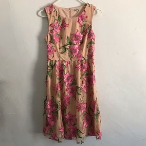 NWOT ModCloth Pink/Nude Fit and Flare Dress